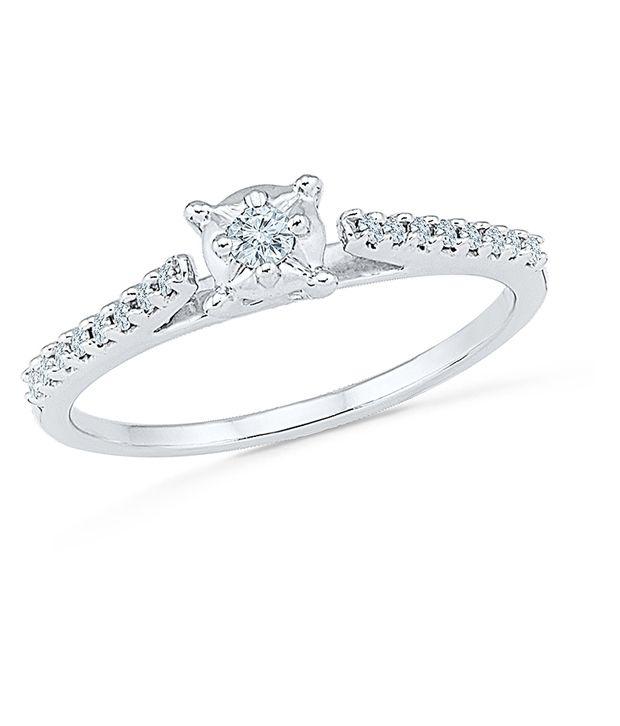 Radiant Bay 14Kt White Gold Designer Ring