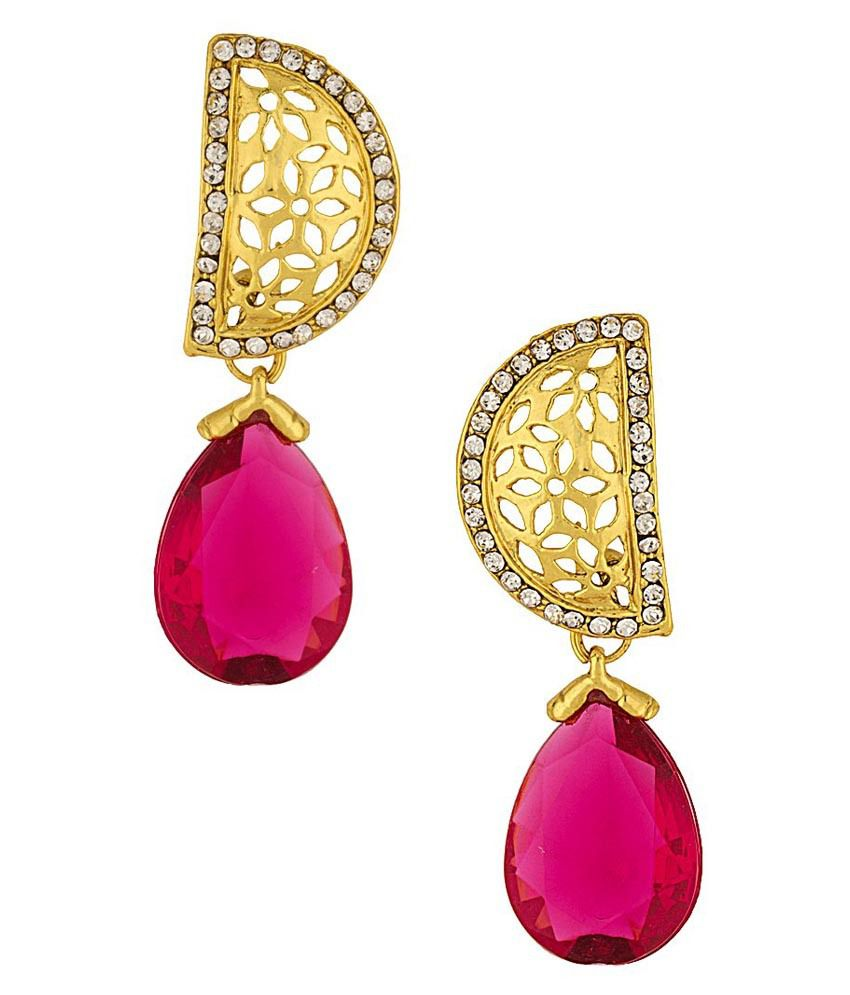 Voylla Gold Alloy Hanging Earrings