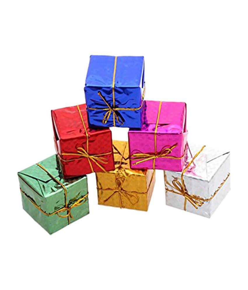 Buy Christmas Tree India: Futaba Gift Box Shape Merry Christmas Tree Ornaments (Set