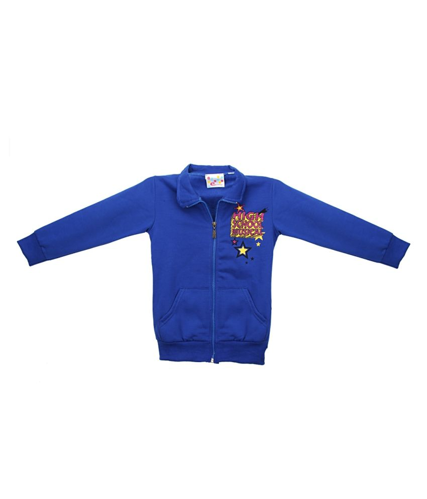 Eimoie Blue Full Sleeves Fleece Jacket