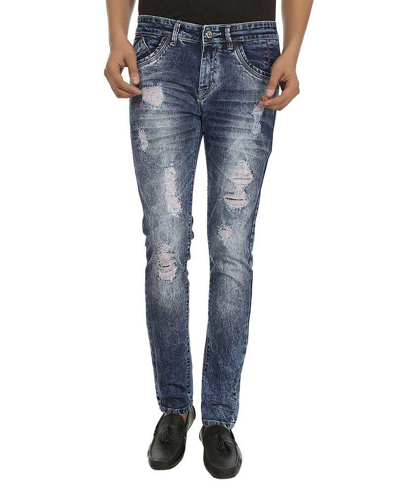 Stag By Fasnoya Blue Skinny Fit Jeans