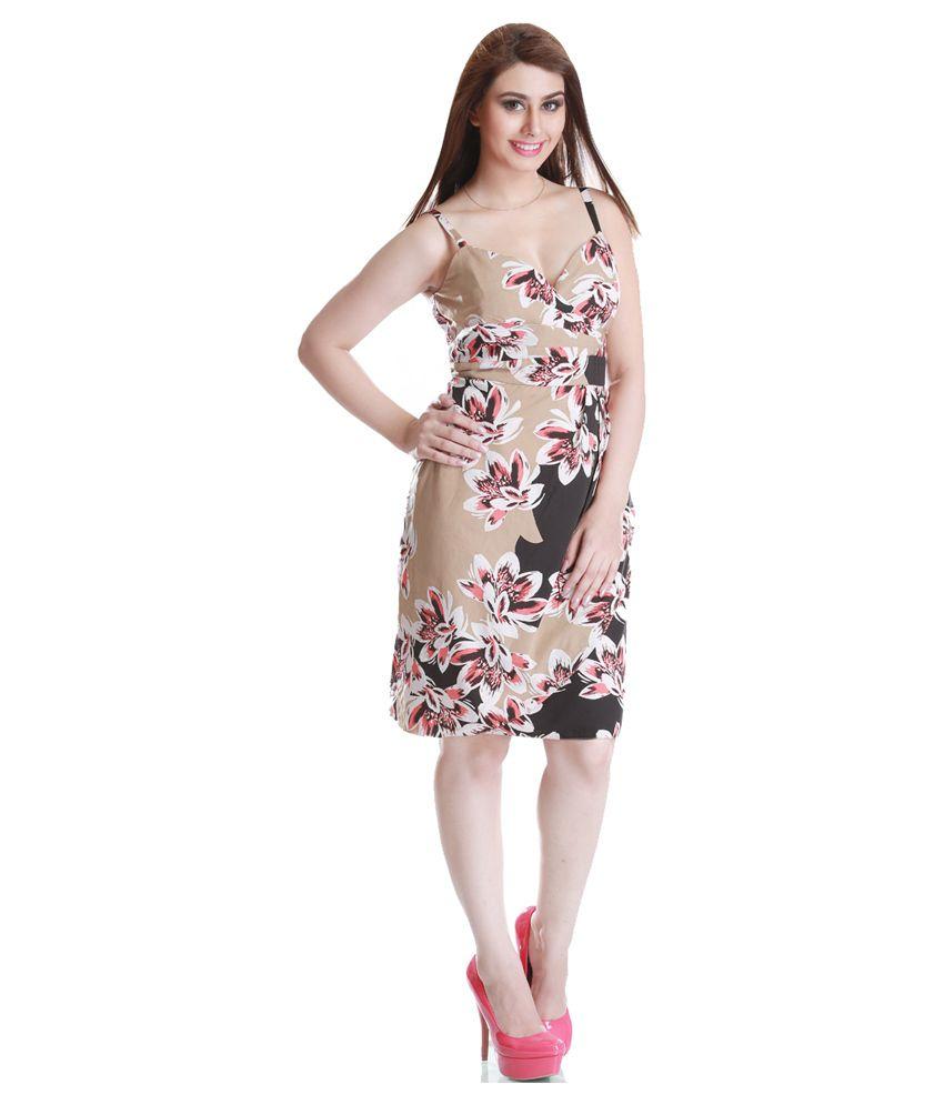 Trendy Divva Polyester Midi Dress