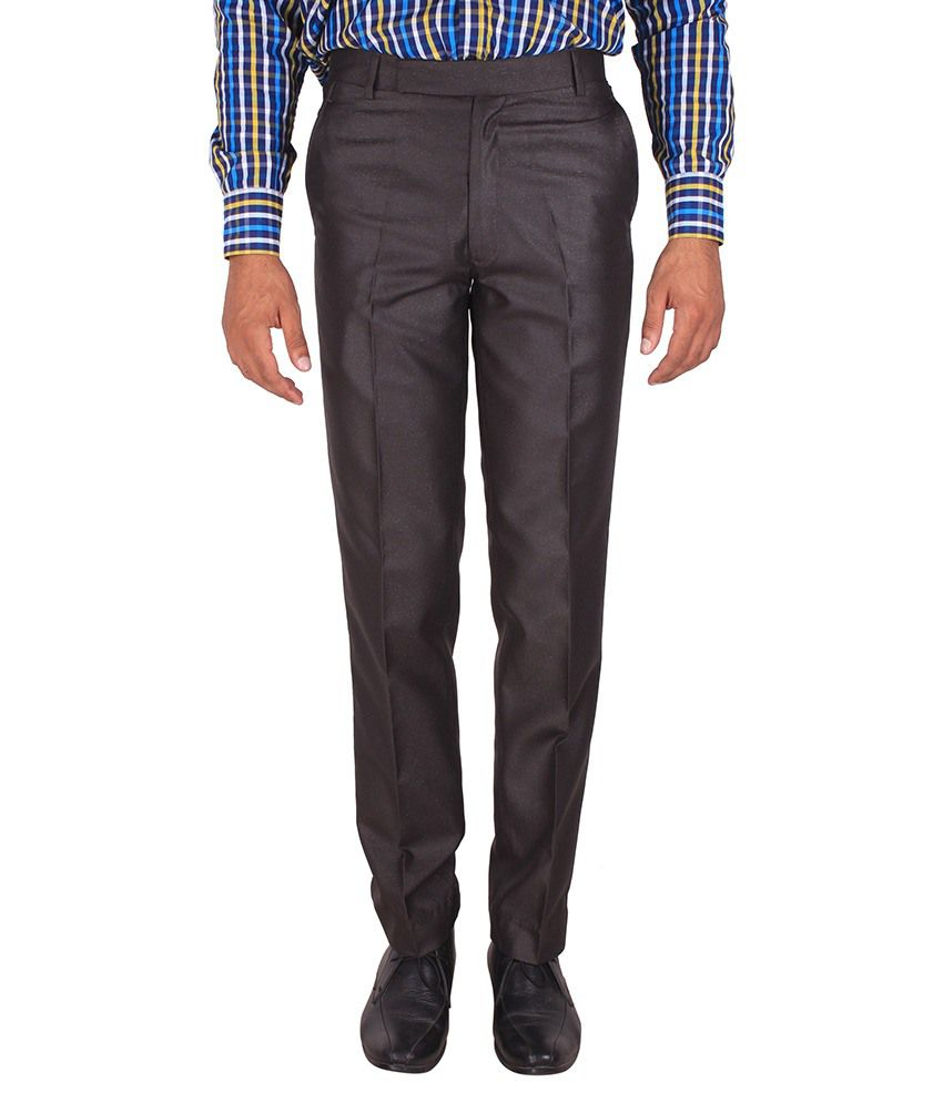 Fashion Play Grey Regular Fit Formal Flat Trouser