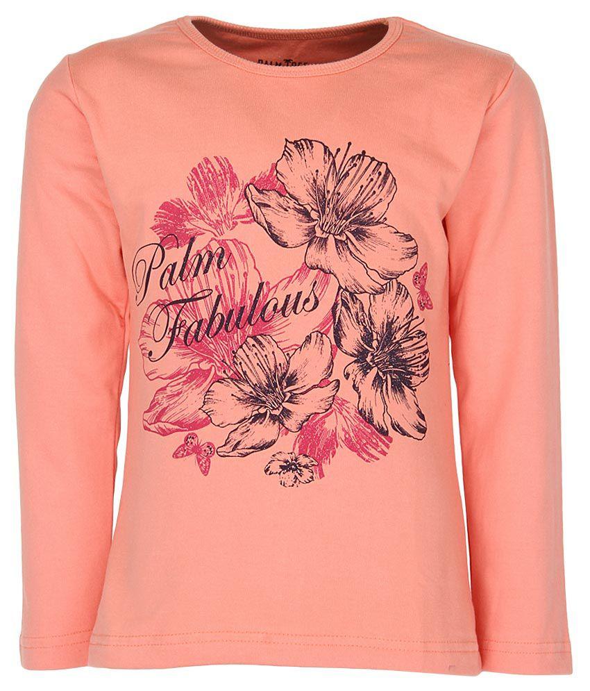 Gini & Jony Peach Printed Sweatshirt