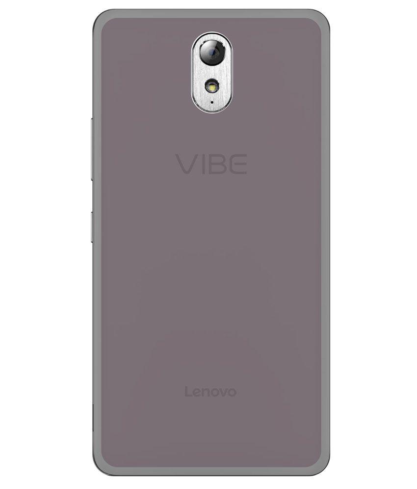 Grafins Silicon Soft Back Cover For Lenovo Vibe P1m Black Plain