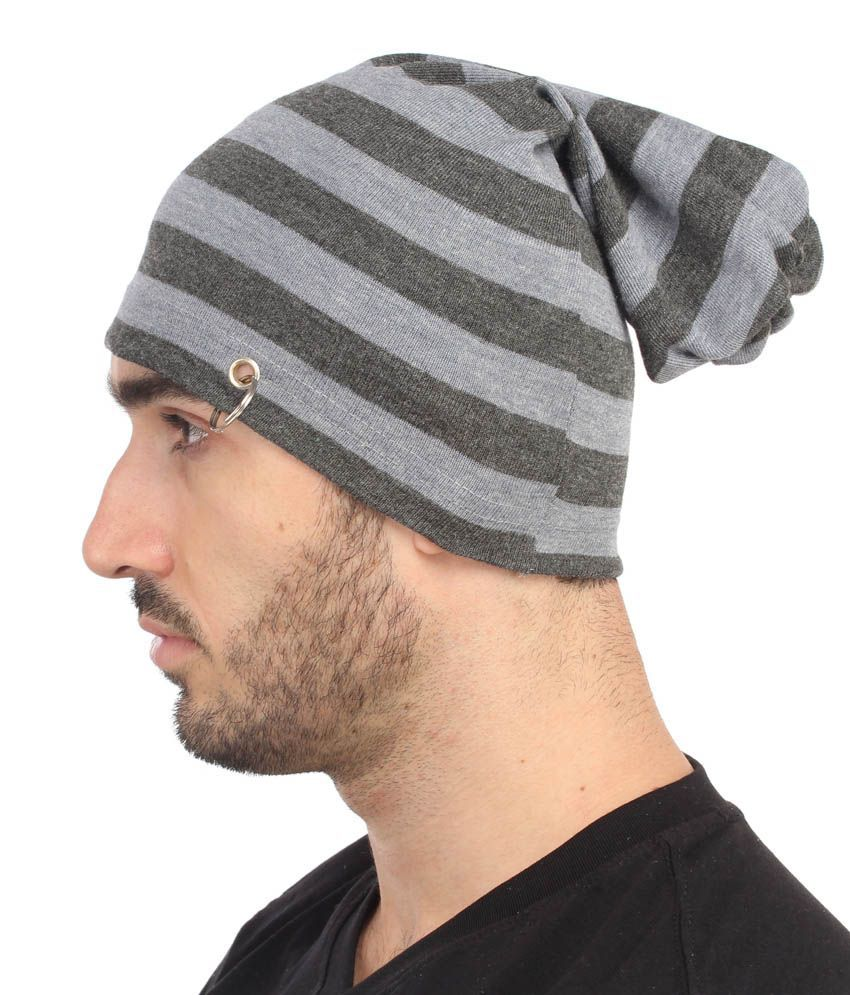 3533ee584 Gudluk Gray Beanies Cap For Men