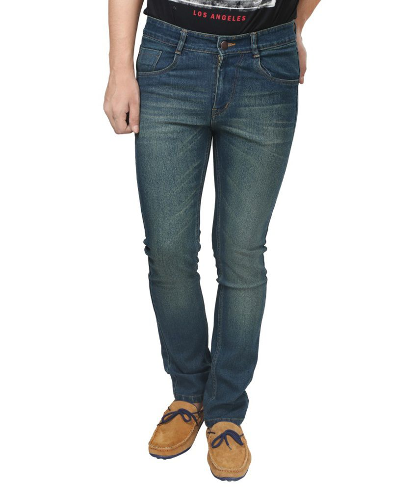 Trendy Trotters Green Regular Fit Jeans