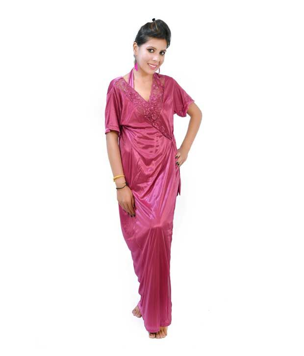7fc018b2b170 Buy Fashion Zilla Onion Purple Halter Neck Backless Nighty With Gown Online  at Best Prices in India - Snapdeal