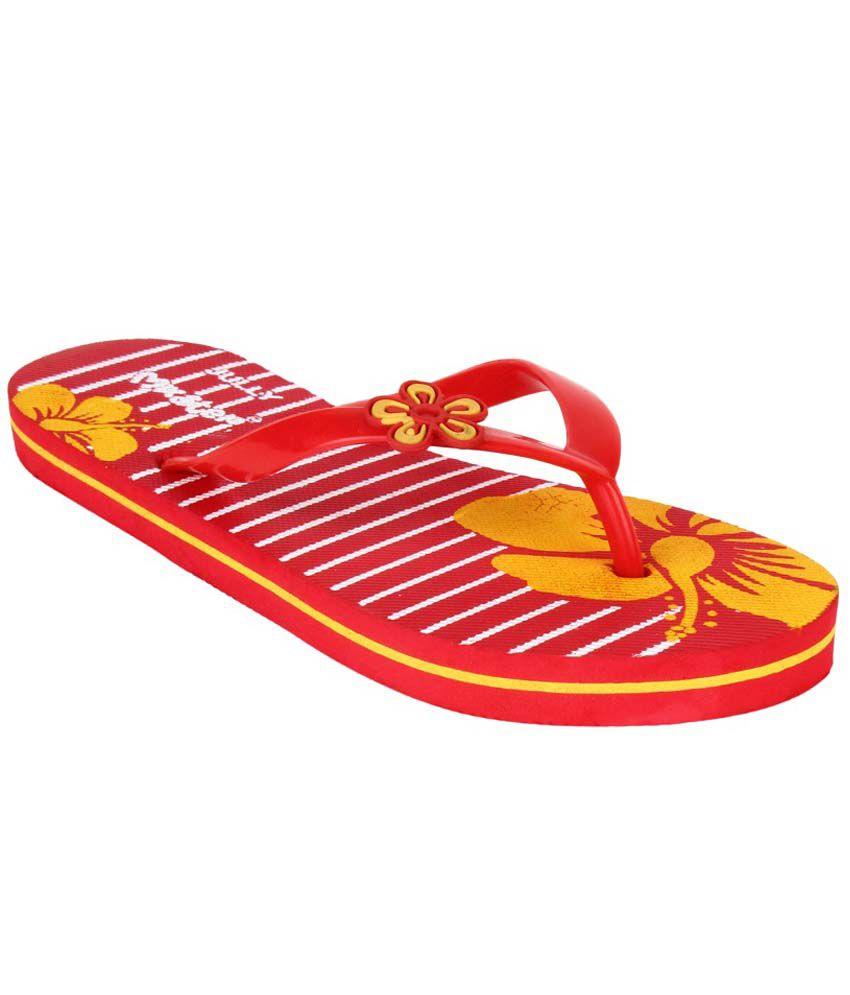 Bersache Red Flip Flops