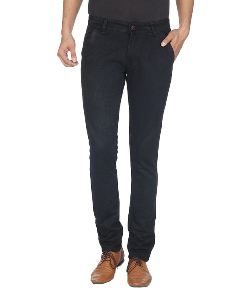 Havello Black Slim Fit Jeans