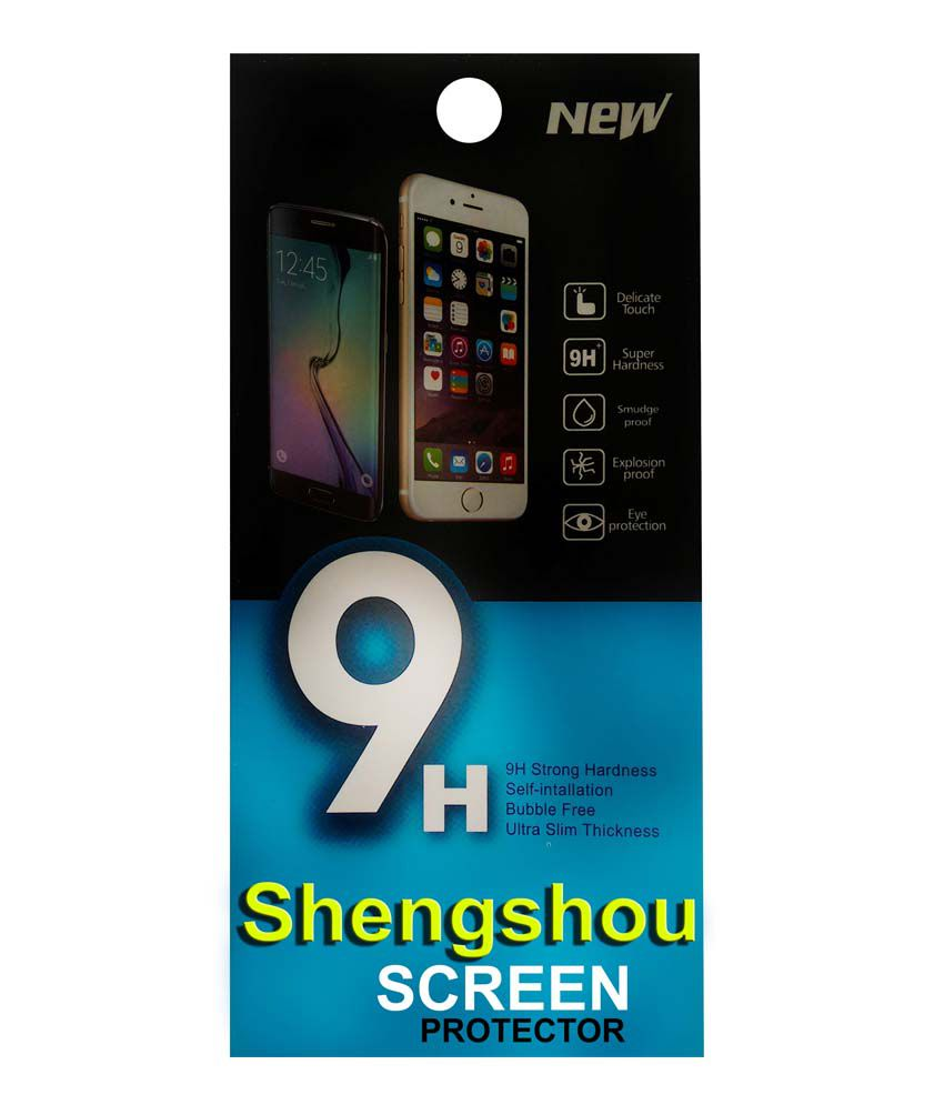 Shengshou Tempered Glass Screen Guard For Micromax Canvas 4 Plus