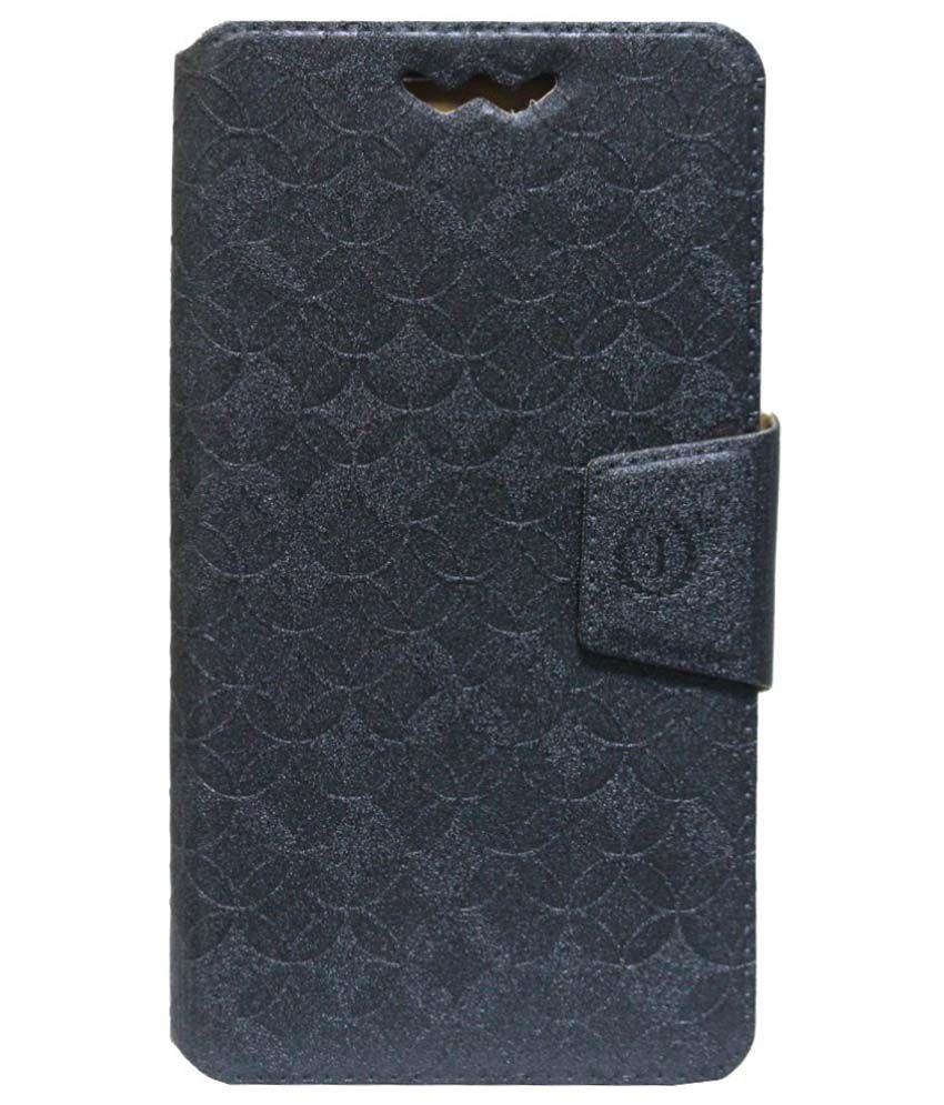 Jo Jo Synthetic Flip Cover For Nokia Lumia 730 Dual SIM - Grey
