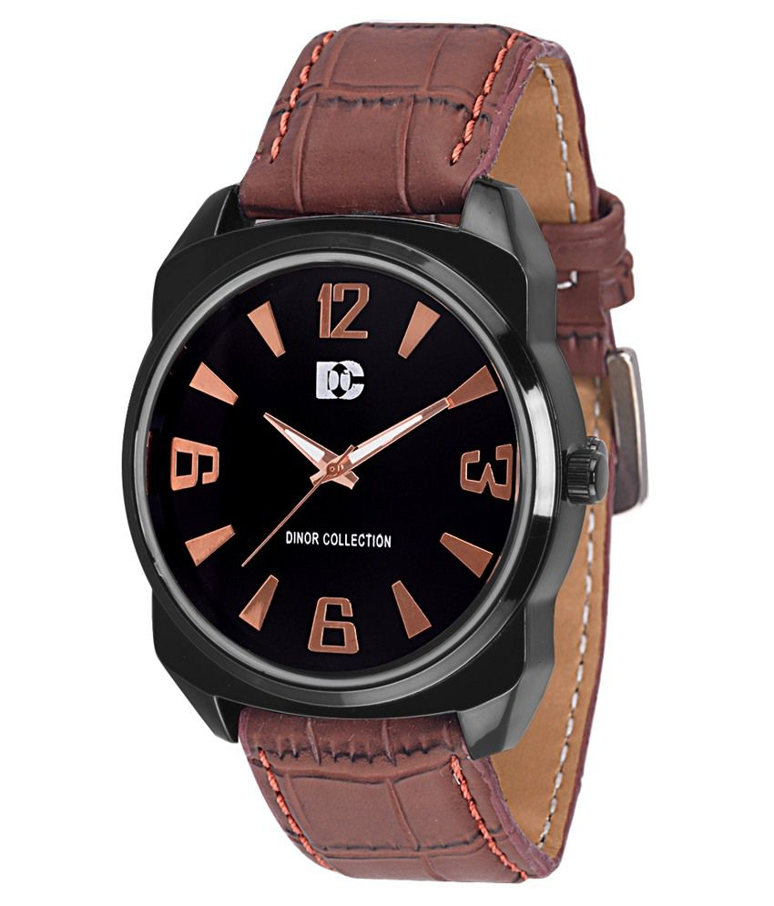 Dinor Brown Analog Watch