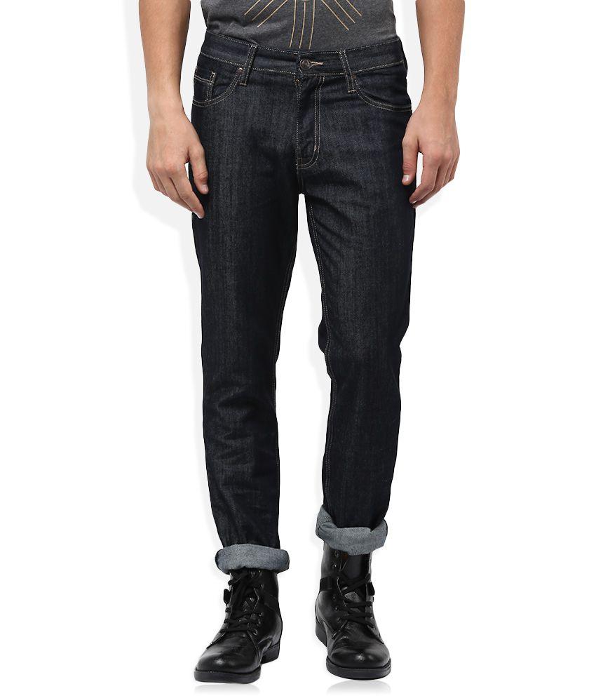 Newport Black Raw Denim Slim Fit Jeans