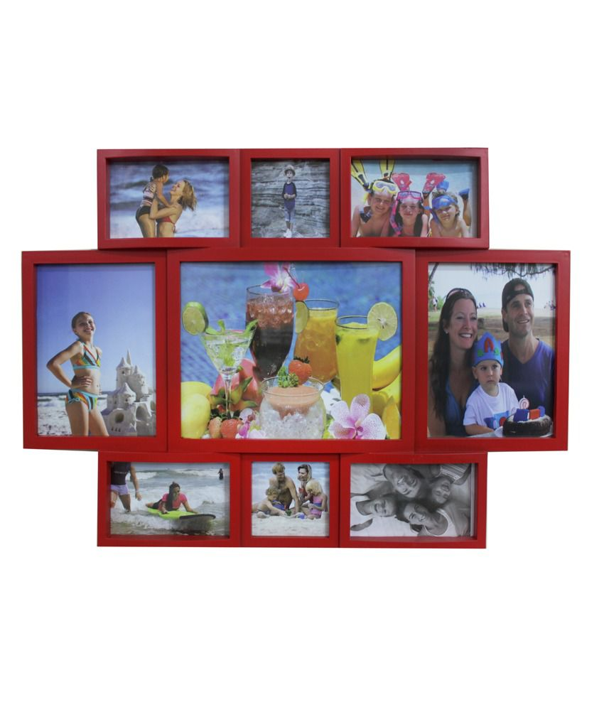 Blacksmith Red 9 Slot Family Photo Frame
