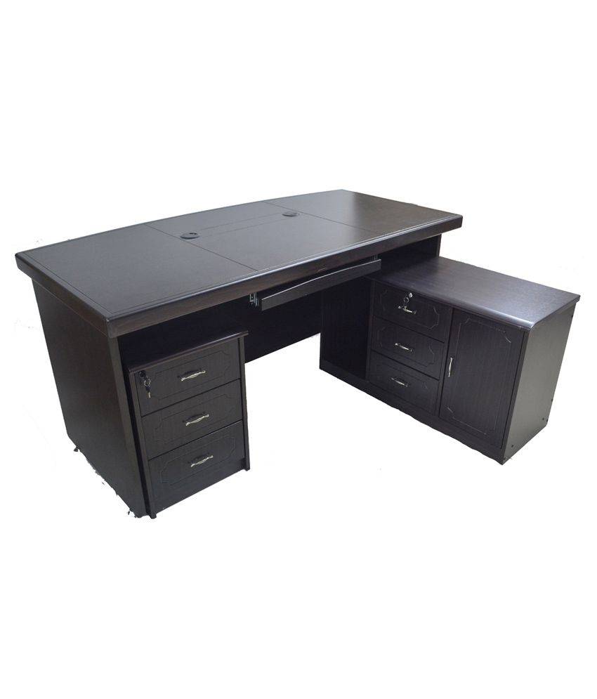Eros Executive Office Table Desk With Side Return Table