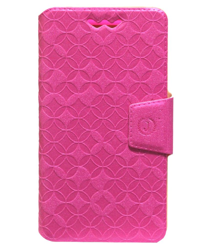 Jo Jo Flip Cover with Silicon Holder For HTC Butterfly - Pink