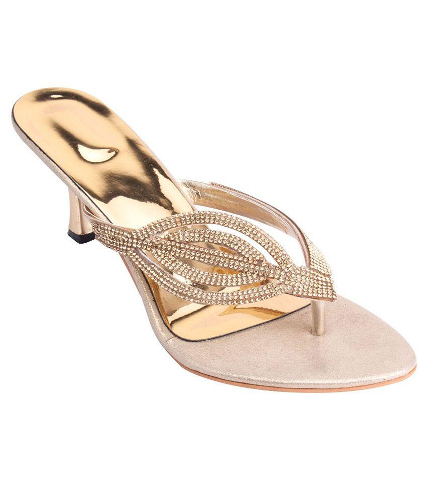 iAnna Gold Heel Slip-Ons