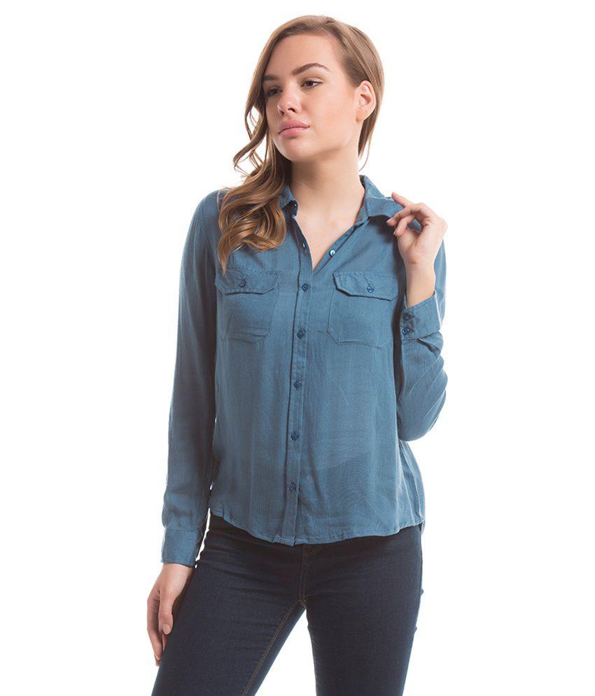 Prym Blue Solids Shirts