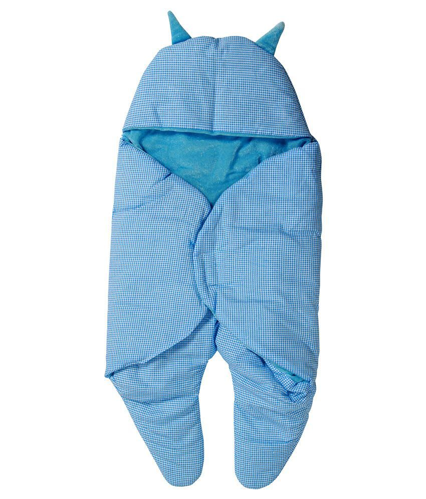 Trendz Home Furnishing Blue Polyester Baby Wraps