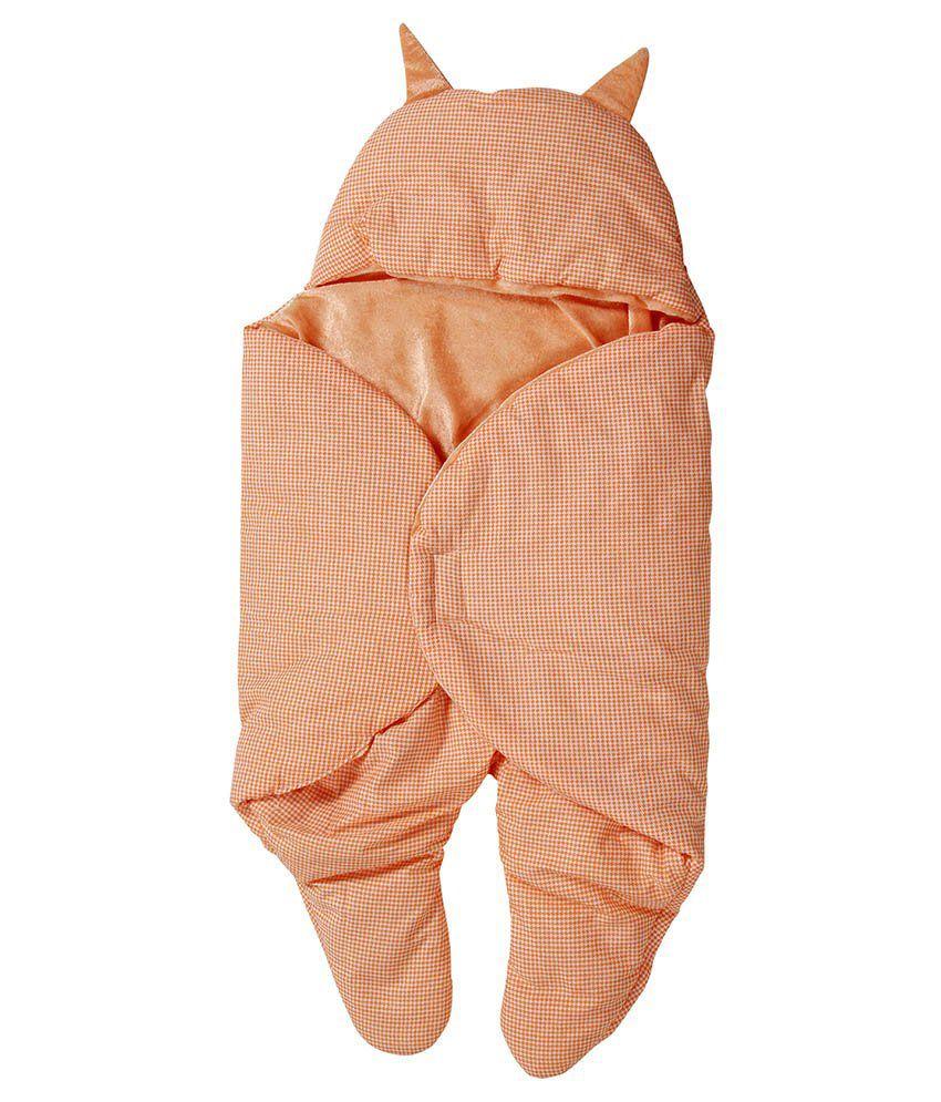 Trendz Home Furnishing Peachpuff Polyester Baby Wraps