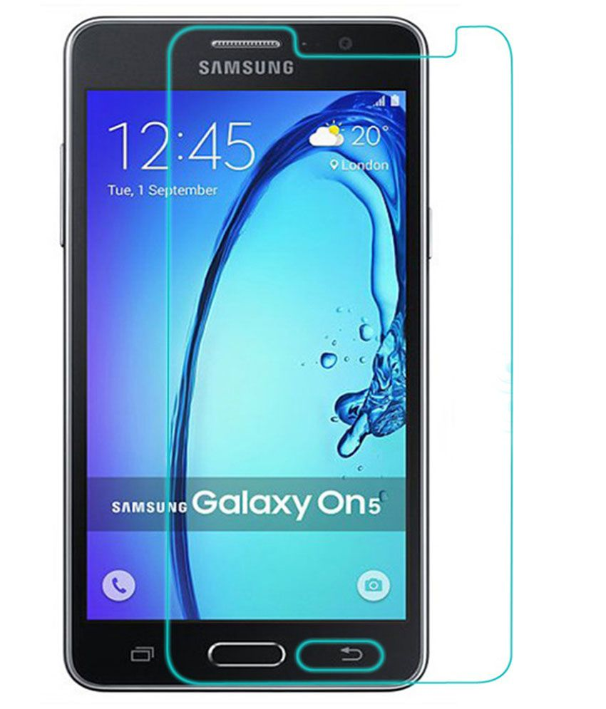 Samsung Galaxy On5 Tempered Glass Screen Guard by Uni Mobile Care