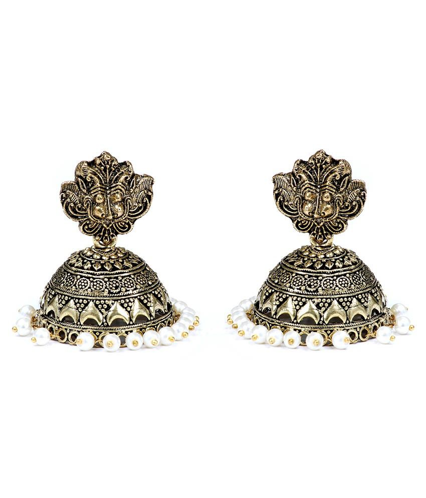 99HomeMart Traditional Designed Gold Brass Jhumki