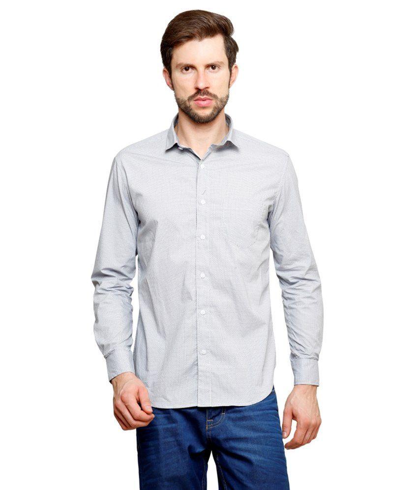 99Hunts White Casual Shirt
