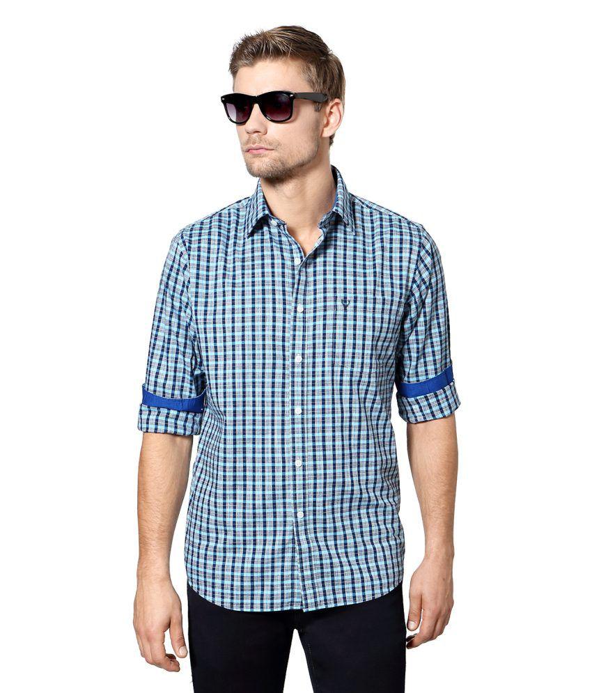 Allen Solly Blue Cotton Shirt