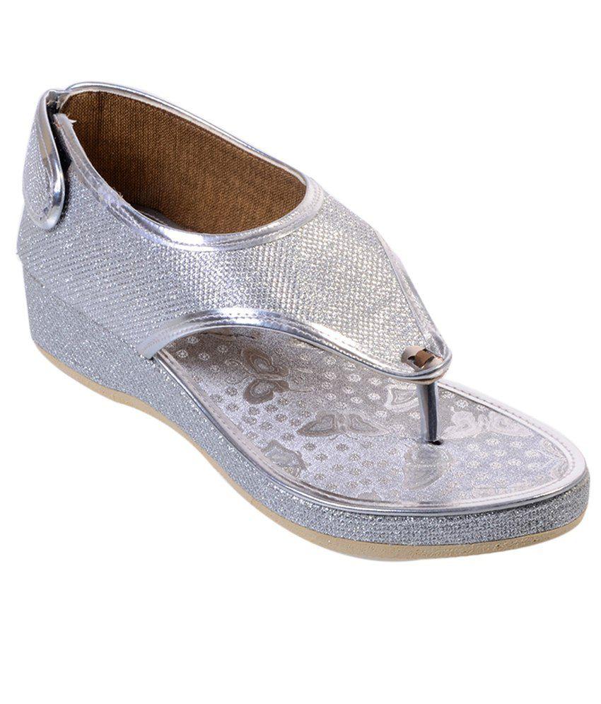 Admirai Silver Sandals