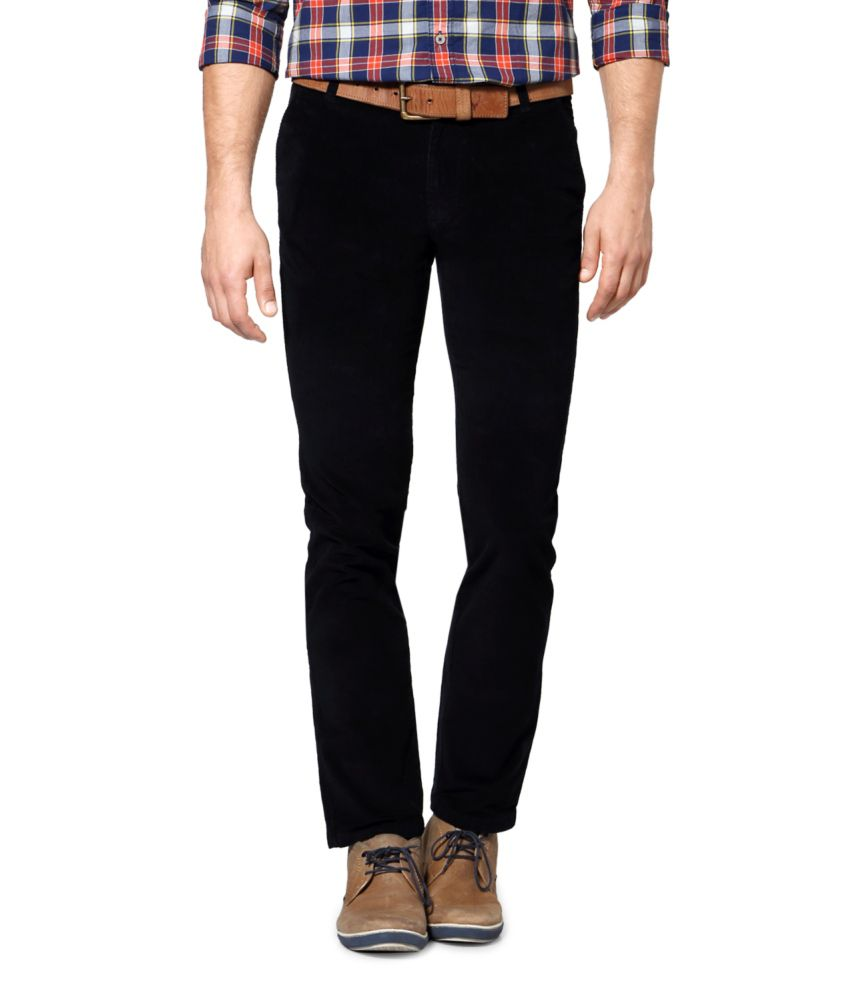 Byford by Pantaloons Black Blended Cotton Chinos