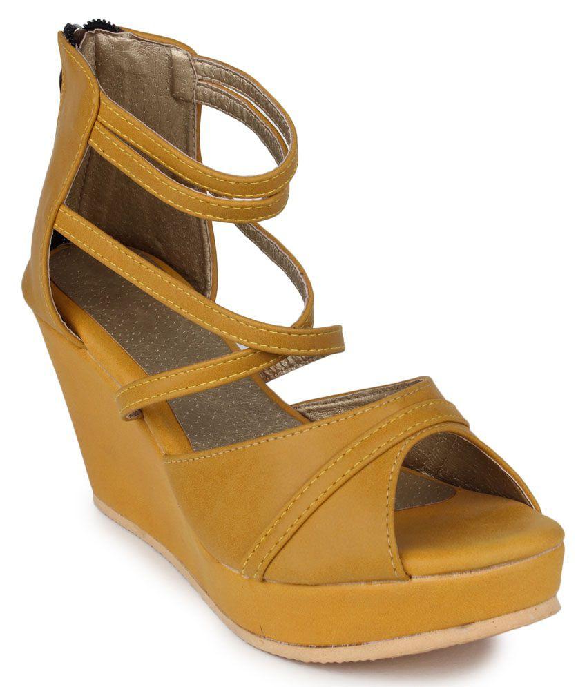 Yahe Tan Wedge Heels