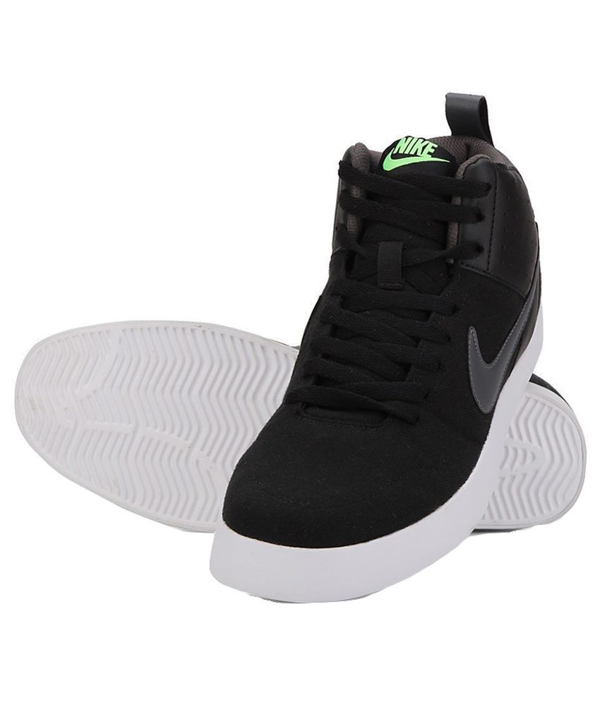 nike casual black shoes
