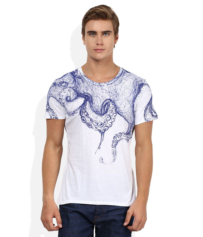 Sisley White Printed T-Shirt