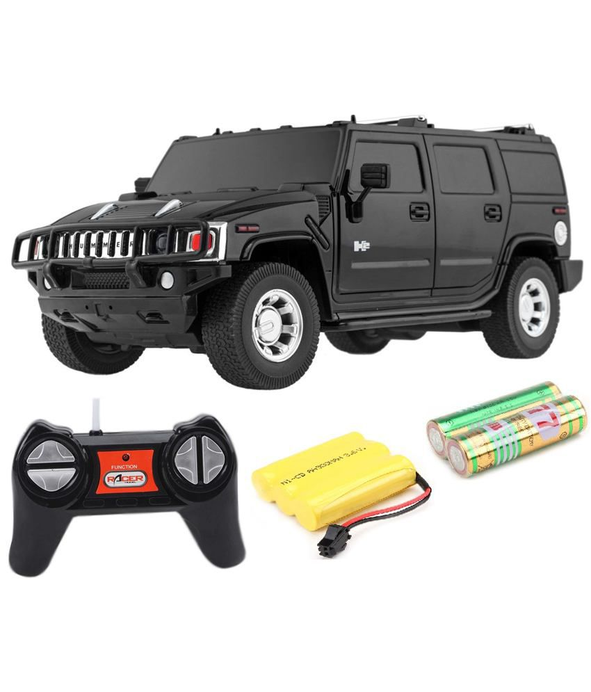 Flipzon Hummer Rc 1 24 Rechargeble Toy Car H2 Suv Black