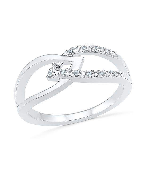 Radiant Bay 14Kt White Gold Diamond Ring
