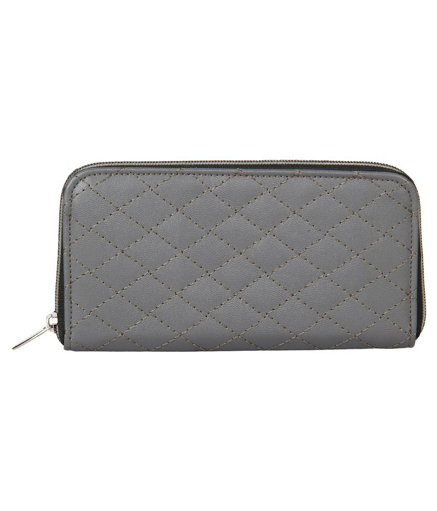 Anekaant Grey Casual Wallet For Women