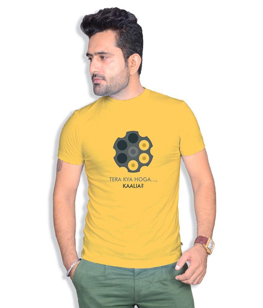 Boton Yellow Cotton T-Shirt