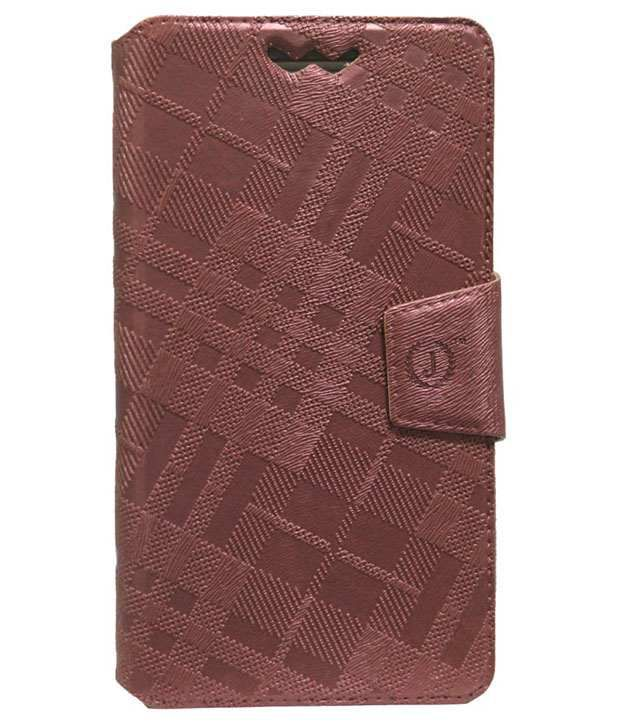 Jo Jo Synthetic Flip Cover For Xolo X1000 Light - Brown