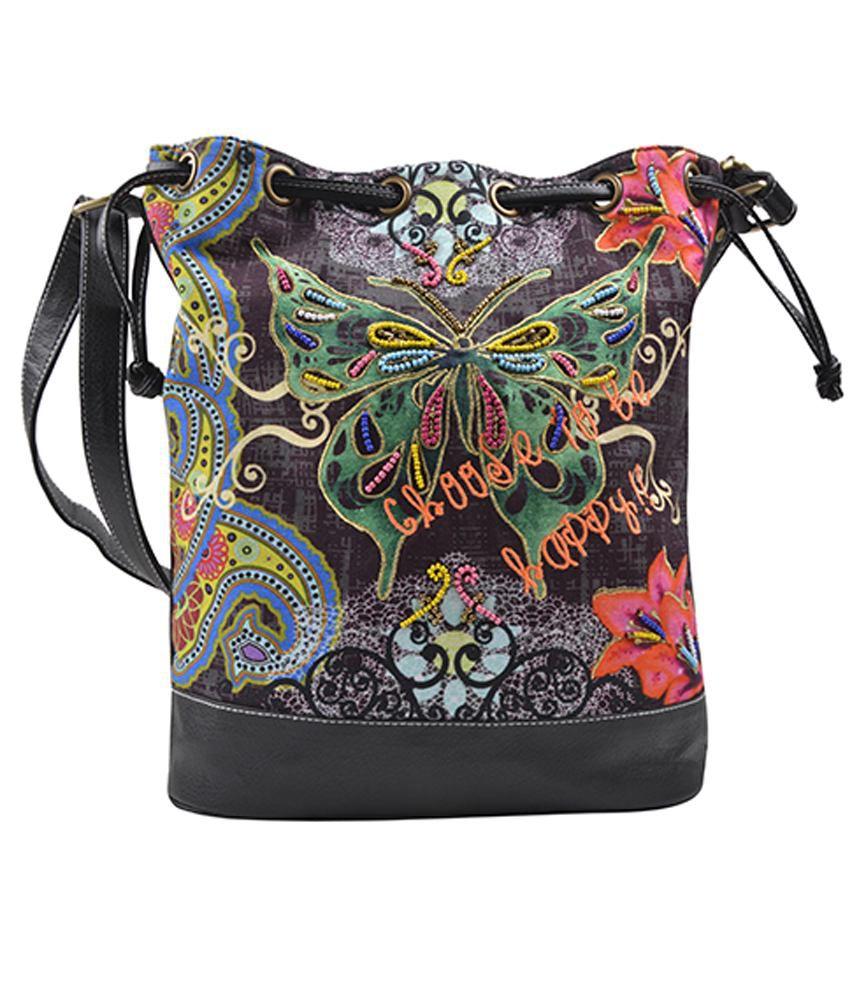 Mistermaker Multicolour Drawstring Sling Bag