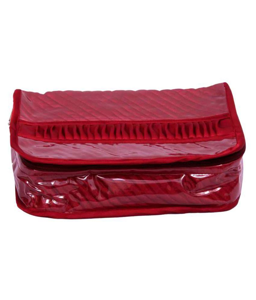 Kuber Industries Jewellery Kit Maroon In Quilted Satin