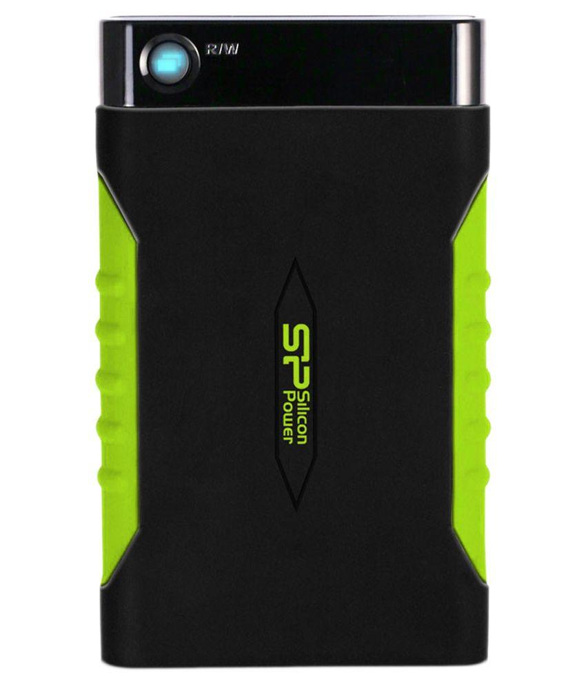 Silicon Power 2 TB External Hard Disks Black&Green