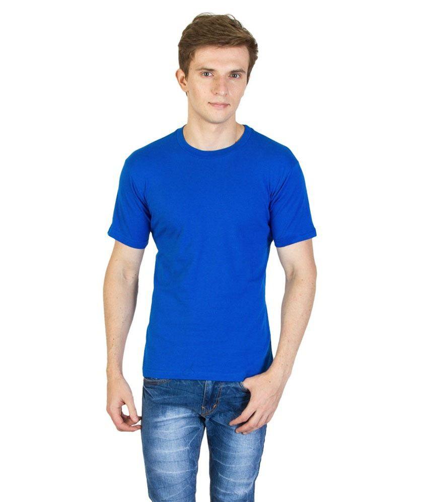 Value Shop India Blue Cotton T-Shirt