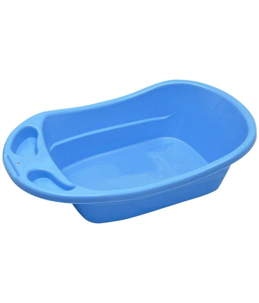 babyoye plastic baby bathtub blue buy babyoye plastic baby bathtub blue at best prices in. Black Bedroom Furniture Sets. Home Design Ideas