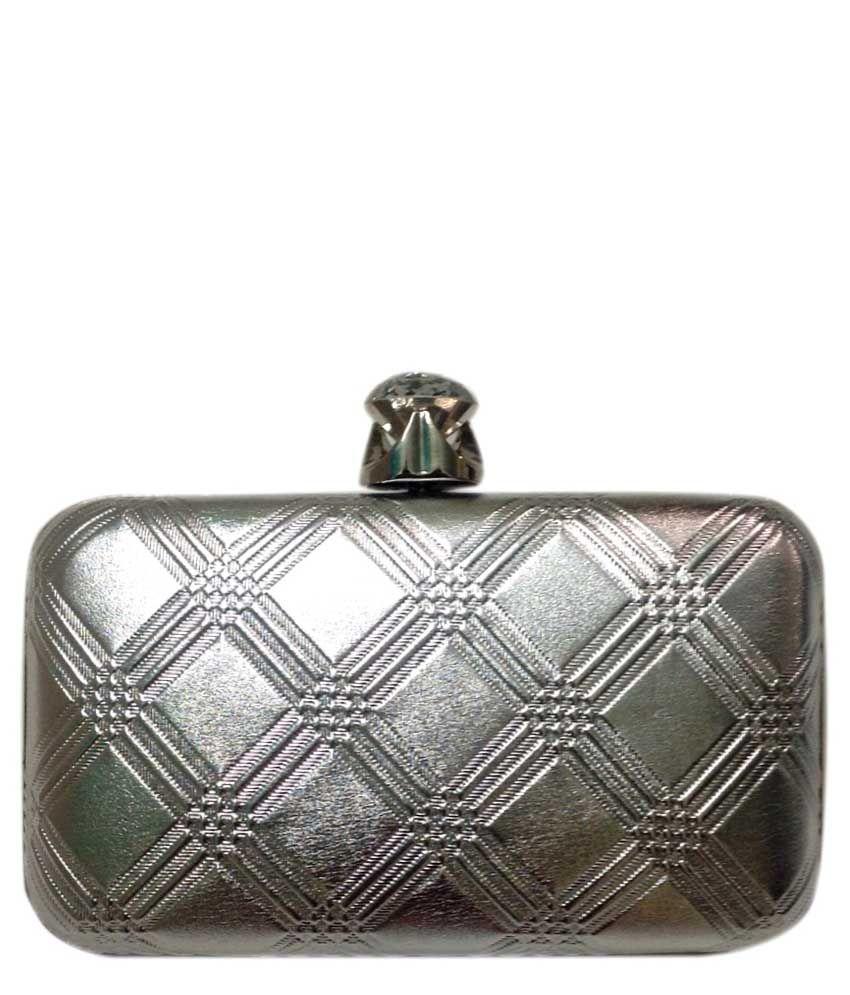 Fashion Rain Silver Clutch