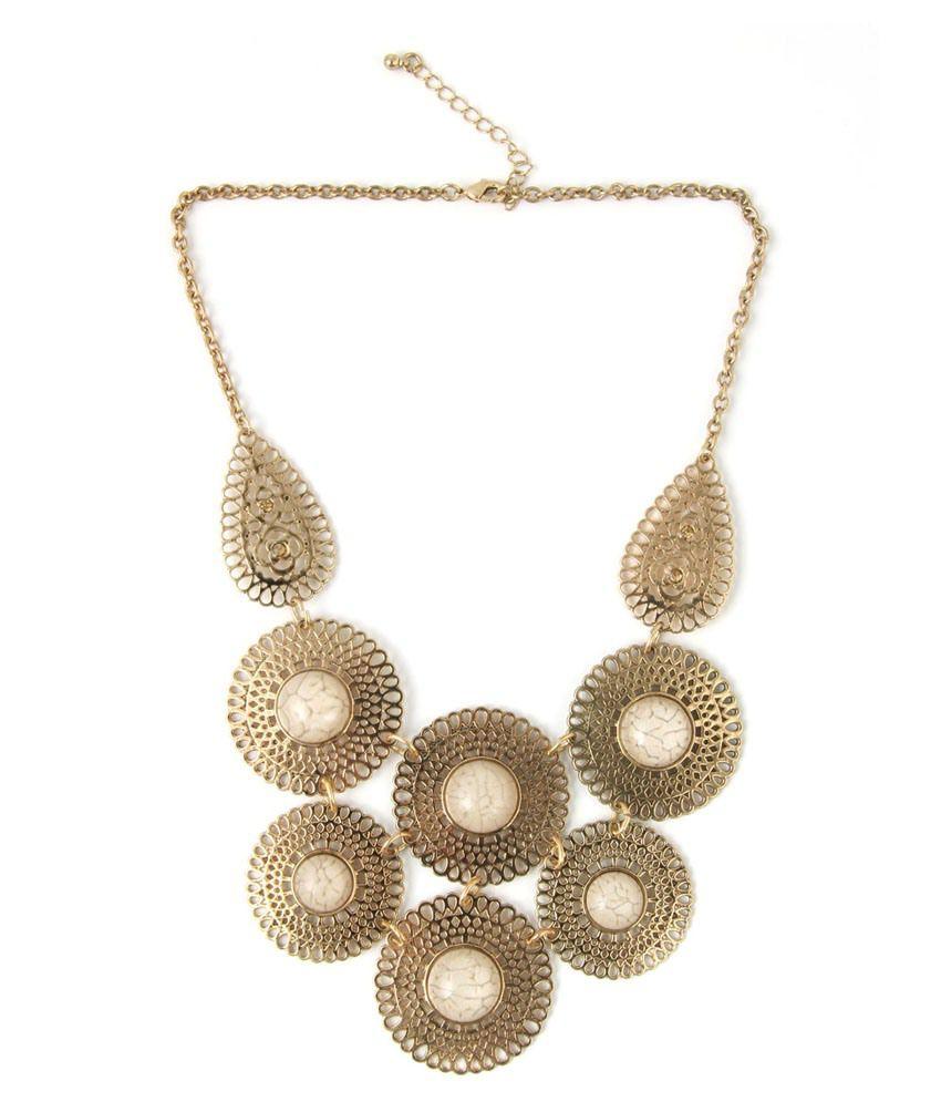 Jewelizer Golden Alloy Necklace