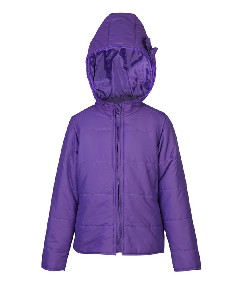 ELLO Purple Full Sleeves With Hood Jacket