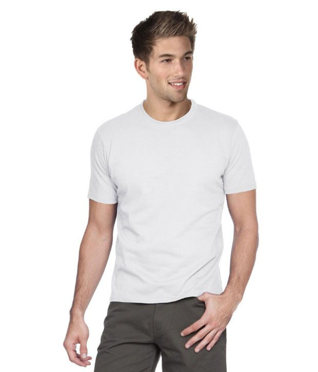 Login Wears White Cotton Blend T-shirt - Pack Of 4