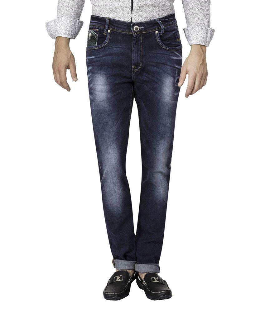 Mufti Navy Light Wash Slim Fit Jeans