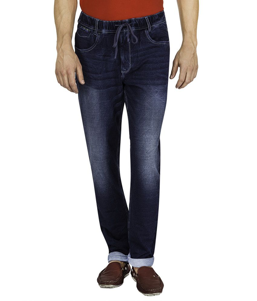Mufti Navy Light Wash Slim Fit Jeans